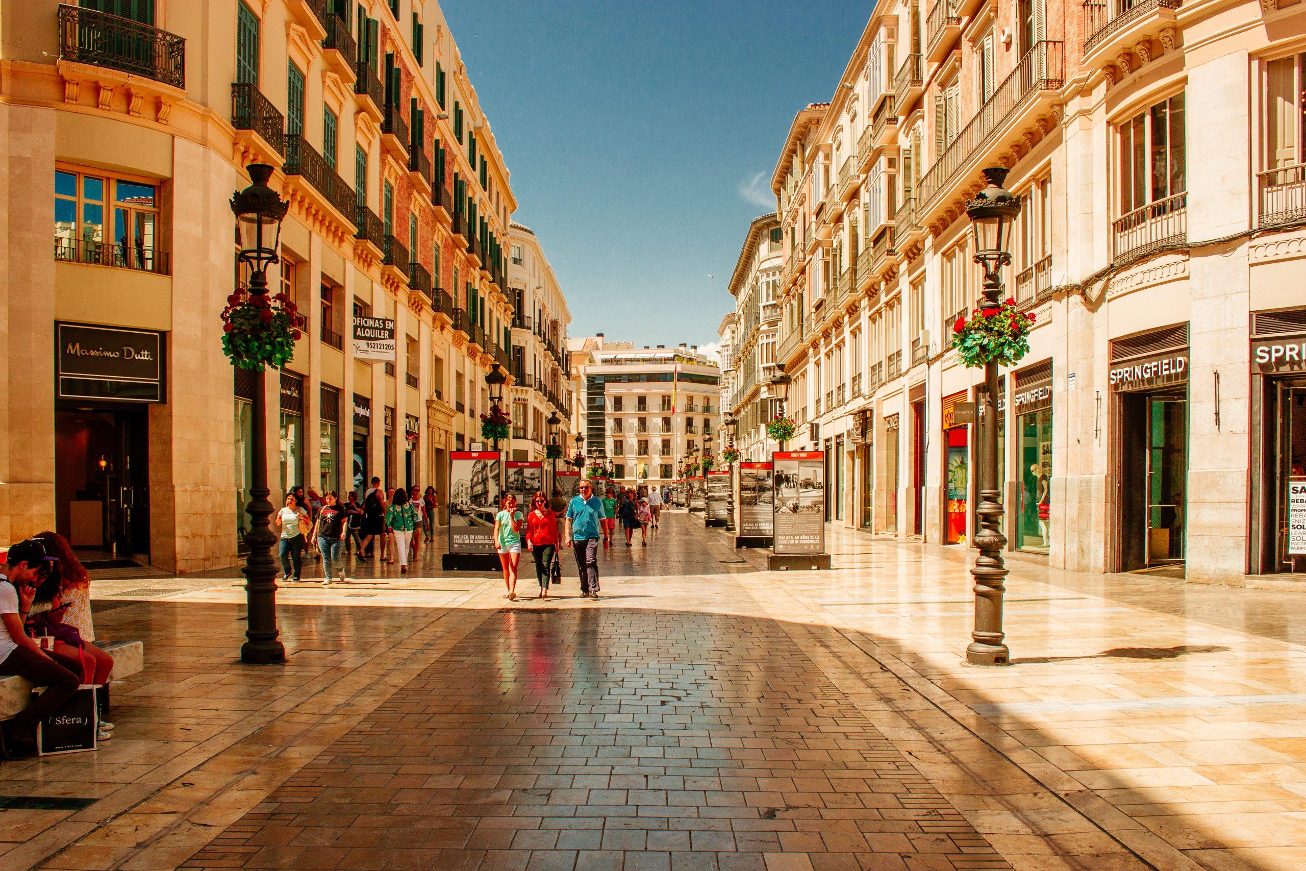 vacanza economica in Spagna: il centro di Malaga