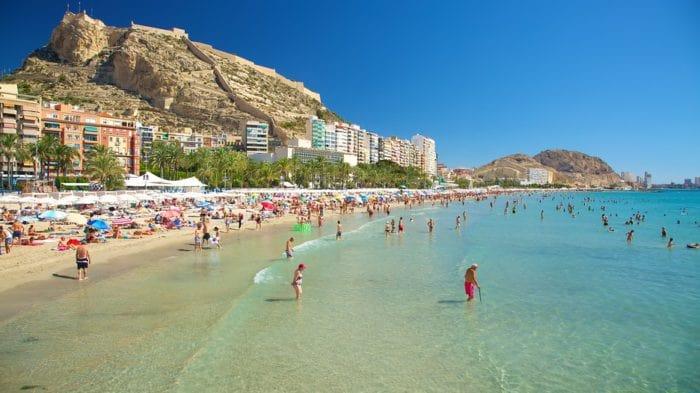 le migliori spiagge della costa blanca: playa del Postiguet